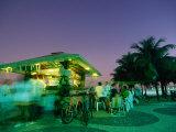 Copacobana Kiosk at Night, Rio De Janeiro, Brazil Photographic Print by Tom Cockrem