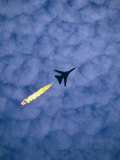 An Airforce Jet Leaves Behind a Trail of Fire During the Air Display at the Australian Grand Prix Photographic Print by Phil Weymouth