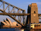 Sydney Opera House Framed by Harbour Bridge, Sydney, Australia Photographic Print by Wayne Walton
