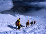 Climbers Descending After a Successful Ascent of Volcan Cotopaxi, Cotopaxi, Ecuador Photographic Print by Grant Dixon