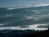 Low Lying Hills and Waterways from Adam's Peak, Sri Lanka Photographic Print by Anders Blomqvist