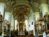 Interior of Rococo Chapel of St. Salvator, Regensburg, Germany Photographic Print by Wayne Walton