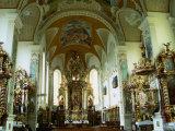 Interior of Rococo Chapel of St. Salvator, Regensburg, Germany Photographic Print by Wayne Walton