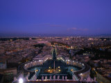 City from Dome of St. Peter's Basilica (Basilica Di San Pietro), Vatican City Photographic Print by Martin Moos