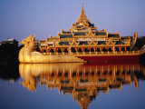 Floating Royal Barge, Karaweik, on Lake Kandawgyi, Mandalay, Myanmar (Burma) Photographic Print by Ryan Fox