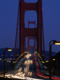 Golden Gate Bridge at Night, San Francisco, California, USA Photographic Print by Roberto Gerometta