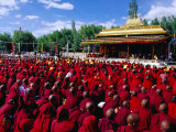 Monks and Nuns at Dalai Lama Sermon, Choglamsar, Ladakh, India Photographic Print by Richard I'Anson