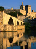 Pont Saint Benezet (Le Pont d' Avignon) on Rhone River, Avignon, France Photographic Print by John Elk III