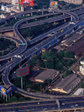 Freeways from Baiyoke Sky Tower, Bangkok, Thailand Photographic Print by Richard I'Anson