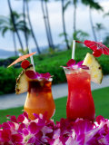 Tropical Cocktails, Poipu, USA Photographic Print by Holger Leue