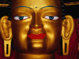 Shakyamuni Buddha Statue at Shey Monastery, Ladakh, India Photographic Print by Richard I'Anson