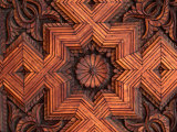 Carved Cedarwood Door, Hassan II Mosque, Casablanca, Morocco Photographic Print by Frances Linzee Gordon