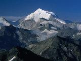 Weisshorn from the Schwarzhorn., Pennine Alps, Valais, Switzerland Fotografisk trykk av Grant Dixon