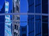 Skyscraper Reflections in Glass Windows on Cordova Street Vancouver, British Columbia, Canada Photographic Print by Barnett Ross