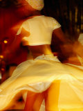 Woman Sega Dancing, Blur, Port Louis, Mauritius Photographic Print by Jean-Bernard Carillet