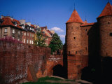 Brick Parapets and Walls of Barbican, Medieval Fort, Warsaw, Poland Photographic Print by Pershouse Craig