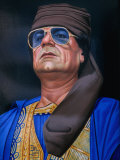 Painting of Libyan Leader Colonel Muammar Al-Gaddafi, Tripoli, Tarabulus, Libya Photographic Print by Doug McKinlay