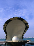 Pearl Statue, Doha, Qatar, Photographic Print
