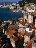Old Town Roofs and Diocletian Palace from Cathedral Campanile, Split, Croatia Photographic Print by Wayne Walton