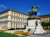 Equestrian Statue of Ludwig I on Odeonsplatz, Munich, Germany Photographic Print by Wayne Walton