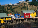 Traditional Palafitos (Fishermen's Houses on Stilts), Castro, Chile Photographic Print by Wayne Walton