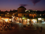 Rhodes City at Night, Dodecanese, Greece Photographic Print by Wayne Walton