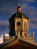 Clock Tower of St. Jacobs of Koudenberg at Brussels Palace Royal, Brussels, Belgium Photographic Print by Martin Moos