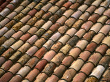 Detail of Terracotta Roof Tiles, Cadaques, Catalonia, Spain Photographic Print by Martin Lladó