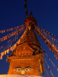 Eyes of the Swayambhunath Stupa, Swayambhunath, Nepal Photographic Print by Ryan Fox