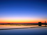 Sunset Over the Saltpans Outside Trapani, Sicily, Italy Photographic Print by Dallas Stribley