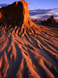 Detail of Walls of China, Mungo National Park, Australia Photographic Print by Paul Sinclair