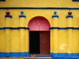 Painted Church in Santa Margarita, Quiche, Guatemala Photographic Print by Jeffrey Becom