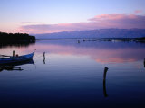 Boat on Waters at Dusk, Nin, Croatia Photographic Print by Wayne Walton