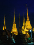 Brilliantly Lit Wat Phra Chetupon or Wat Po as It's Known, Bangkok, Thailand Photographic Print by Anders Blomqvist