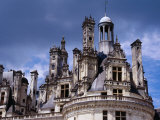 Detail of Roof Terraces of Chateau De Chambord in Loire Valley, Chambord, France Photographic Print by Diana Mayfield