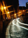 Cobble-Stoned Thunovska Street at Night, Special Effect, Prague, Czech Republic Photographic Print by Richard Nebesky