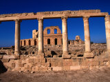 The Well Preserved Roman Ruins of Sabratha, an Nuqat Al Khams, Libya Photographic Print by Doug McKinlay