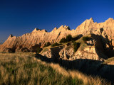 Badlands Loop Road and Rock Hills, Badlands National Park, South Dakota, USA Photographic Print by Stephen Saks