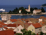 Franciscan Monastery Over Rooftops, Croatia Photographic Print by Wayne Walton