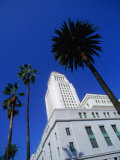 Los Angeles City Hall (1928) on North Spring Street, Los Angeles, California, USA Photographic Print by Ray Laskowitz