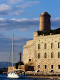 Sail Boat Passing Fort Saint-Jean, Marseille, France Photographic Print by Jean-Bernard Carillet