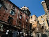 Courtyard with Houses and Church Dome, Naples, Italy Photographic Print by Martin Moos