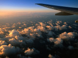 Sunrise Over Clouds from Aeroplane, Marshall Islands Photographic Print by John Elk III