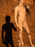 Copy of Michelangelo's David Standing Outside Palazzo Vecchio on Piazza Della Signoria, Italy Photographic Print by Diana Mayfield