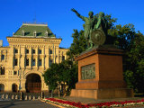 Old Stock Exchange Building and Statue of Kuzma Minin and Prince Dmitry Pozharsky, Moscow, Russia Photographic Print by Jonathan Smith