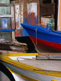 Detail of Hulls of Rinella Fishing Boats, Rinella, Sicily, Italy Photographic Print by Dallas Stribley