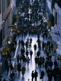 People Walk the Via Condotti as Seen from the Spanish Steps, Rome, Italy Photographic Print by Martin Moos