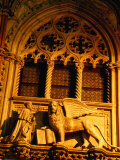 St Mark's Lion Detail on Palazzo Ducale, Official Residence of Doges Venice, Italy Photographic Print by Glenn Beanland