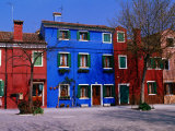 Colourful House Facades., Burano, Veneto, Italy Photographic Print by Christopher Groenhout