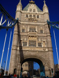 Traffic and People on the Tower Bridge - London, England Photographic Print by Doug McKinlay